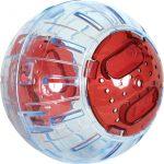Boule d'exercice hamster, souris... diamètre 12,5 cm environ rouge cerise
