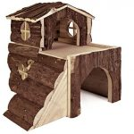 CROCI Maison Villa en Bois pour Petits animaux 15x15x16 cm