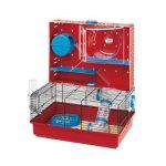 Ferplast - Olimpia 57922599 - Cage pour hamsters - Complètement équipée - 46 x 29.5 x 54 cm