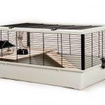 Little Friends Grosvenor Cage pour rats et hamsters avec tablette et échelle en bois Argenténoir Taille L 78 x 48 x 36 cm