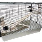 Little Friends Langham Cage pour rats et hamsters 2 étages Modèle haut Argenté noir 78 x 48 x 58 cm