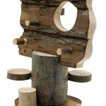 Living World Accrobranche en Bois Hamster et Gerbille Hauteur 21 cm