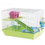 Savic Martha Triple Cage pour Hamster Blanc Vert 47 x 30 x 21 cm