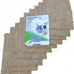 Tapis pour rongeurs en chanvre, 40x25cm, épaisseur 5mm, lot de 10 (EUR 2,75pièce). Tapis en tant que pour les lapins, cochons d'Inde, hamsters, dègues, rats et d'autres rongeurs.