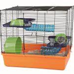 Trixie 6400 Cage pour hamster Orangebleuvert 40 × 38 × 30 cm