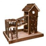 Trixie Natural Living Aire de Jeu Birger 36 × 33 × 26 cm pour Souris Hamsters